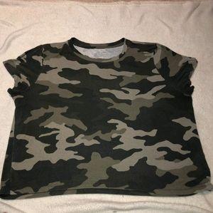 Army crop tshirt